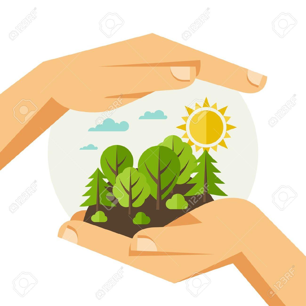 35135773-Protecci-n-del-medio-ambiente-la-ecolog-a-concepto-de-ilustraci-n-en-estilo-plano--Foto-de-archivo